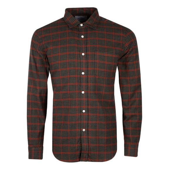 Portuguese Flannel Mens Green Coimbra Shirt