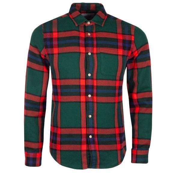 Portuguese Flannel Mens Red Winter Blanket Shirt