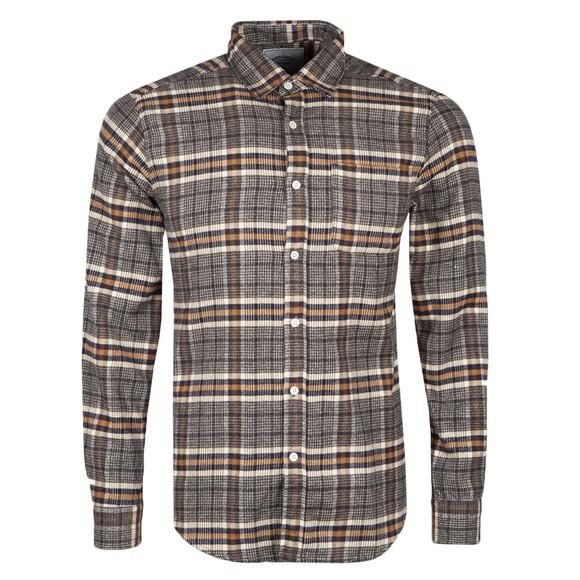 Portuguese Flannel Mens Grey Bibliotec Shirt
