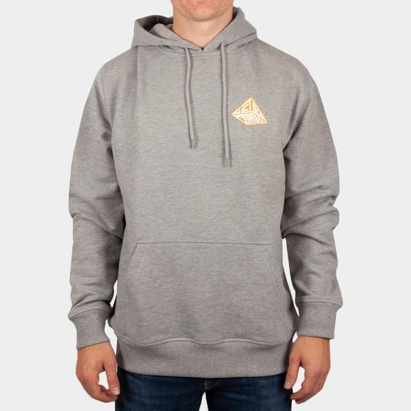 Hikerdelic Mens Grey Pyramid Hoodie