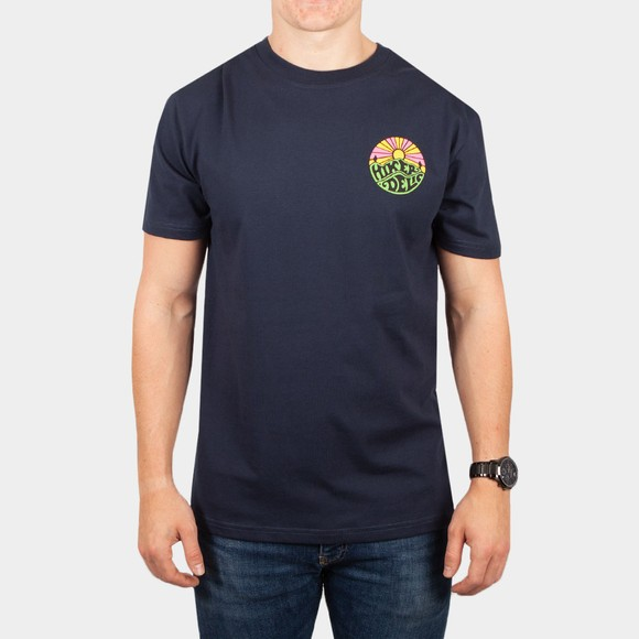 Hikerdelic Mens Blue Original Green Logo T-Shirt main image