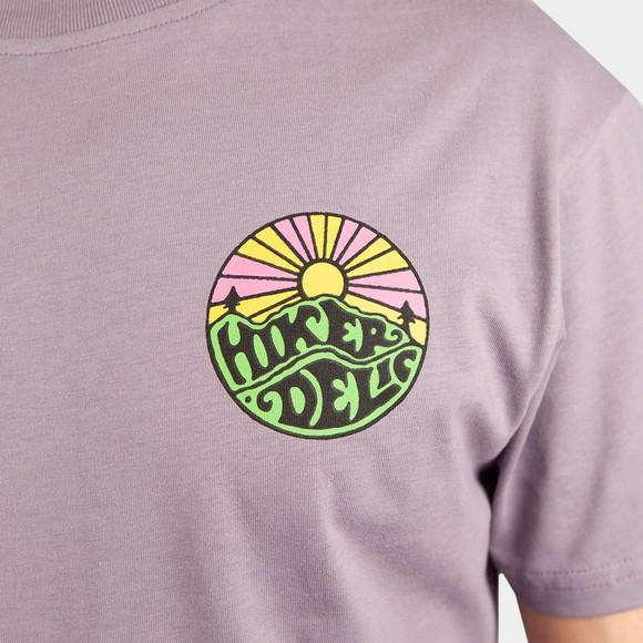 Hikerdelic Mens Purple Original Green Logo T-Shirt main image