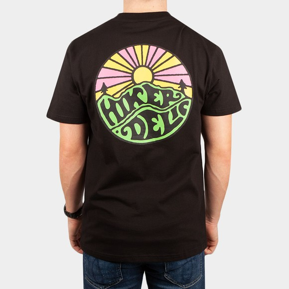 Hikerdelic Mens Black Original Green Logo T-Shirt main image