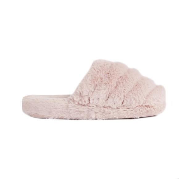 Ted Baker Womens Pink Lopsey Faux Fur Mule Slipper