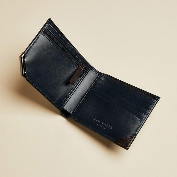 Ted Baker Mens Blue Korning Metal Corner Wallet