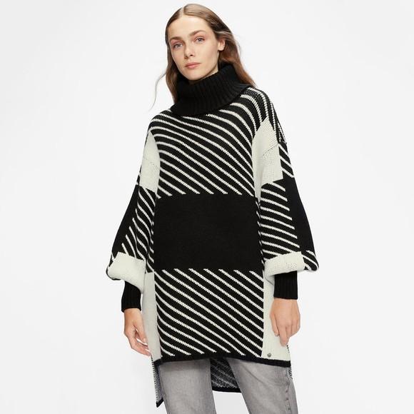 Ted Baker Womens Black Zzaarah Long Jacquard Sweater
