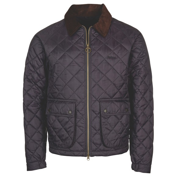 Barbour Lifestyle Mens Blue Dom Quilt Jacket