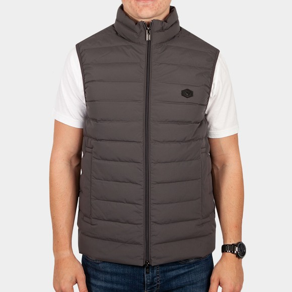 Emporio Armani Mens Grey 8N1BQ1 Mixed Fabric Gilet