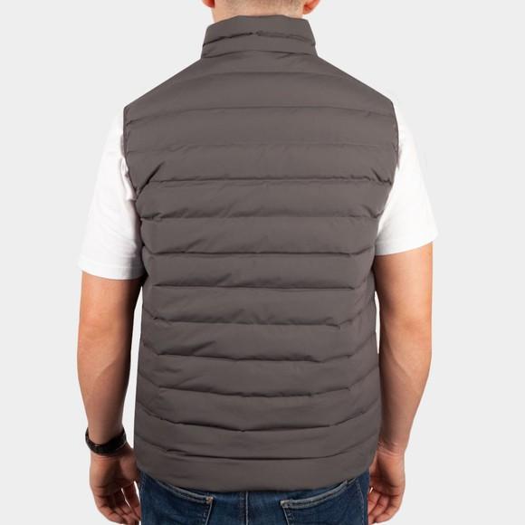 Emporio Armani Mens Grey 8N1BQ1 Mixed Fabric Gilet main image
