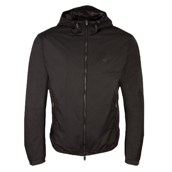 Emporio Armani Mens Black Small Logo Light Jacket
