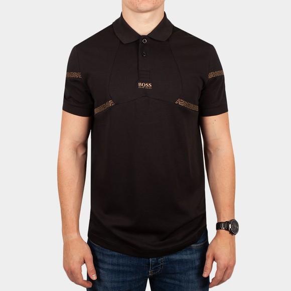 BOSS Athleisure Mens Black Paul Pixel Polo Shirt