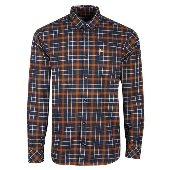 Carhartt WIP Mens Green L/S Baxter Shirt