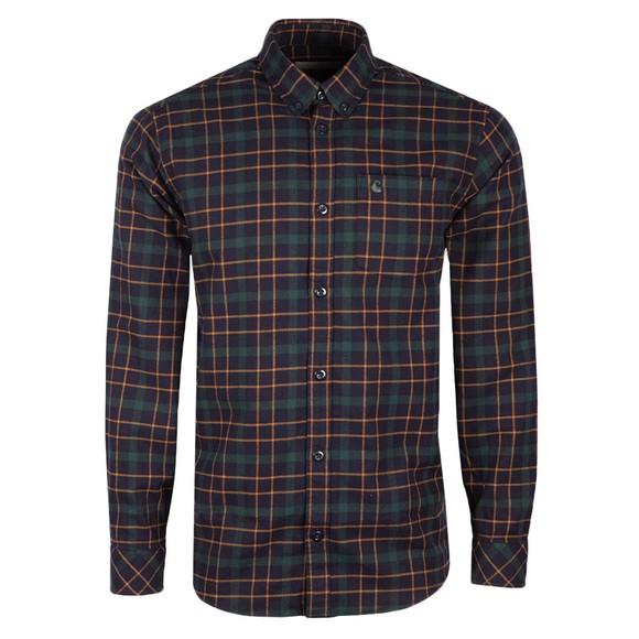Carhartt WIP Mens Blue L/S Baxter Shirt