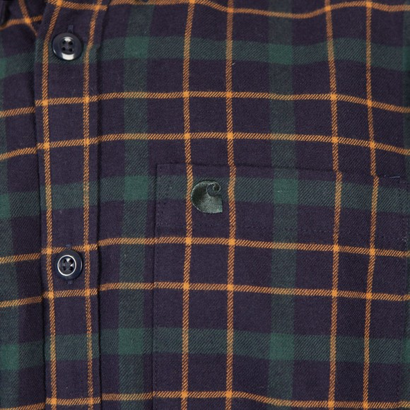 Carhartt WIP Mens Blue L/S Baxter Shirt main image