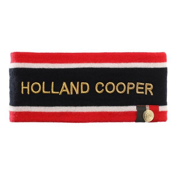 Holland Cooper Womens Blue Iconic Tri Colour Headband