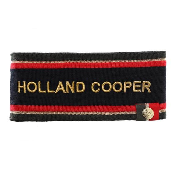 Holland Cooper Womens Blue Iconic Tri Colour Headband main image