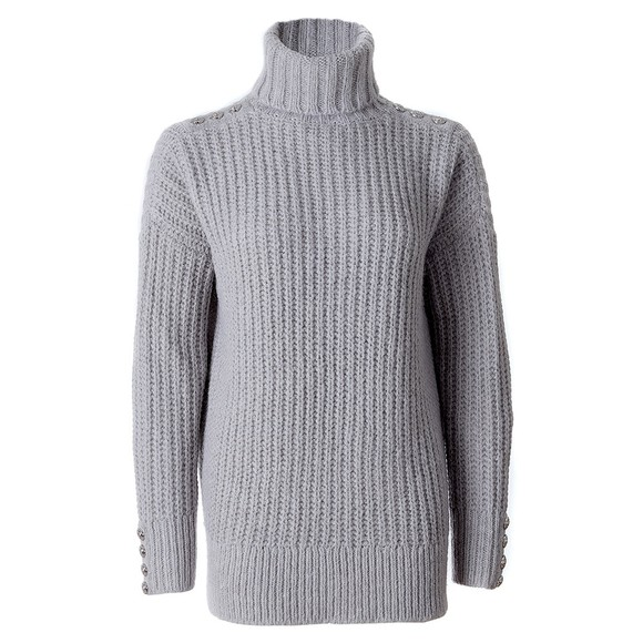 Holland Cooper Womens Grey Hoxton Chunky Knit