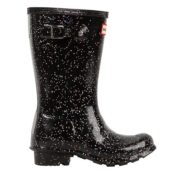 Hunter Girls Black Giant Glitter Wellington Boot