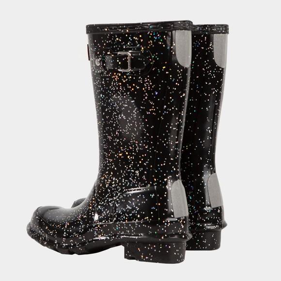 Hunter Girls Black Giant Glitter Wellington Boot main image