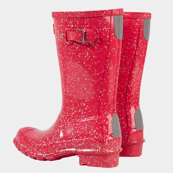 Hunter Girls Pink Giant Glitter Wellington Boot main image