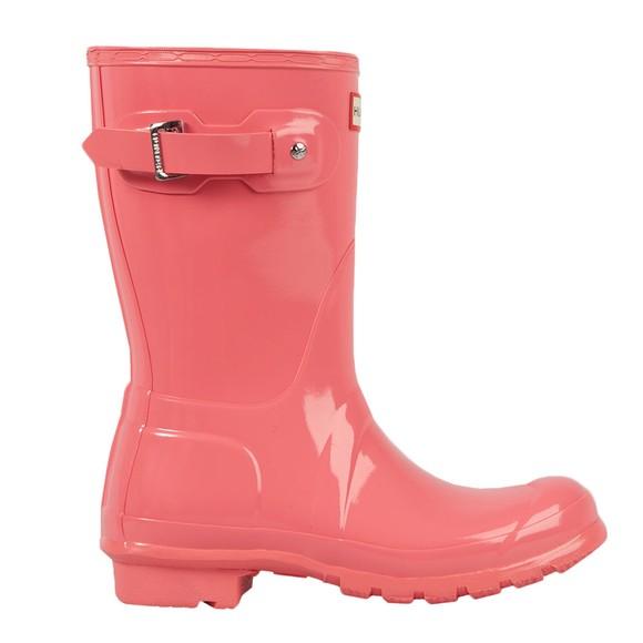 Hunter Womens Pink Original Gloss Short Wellington