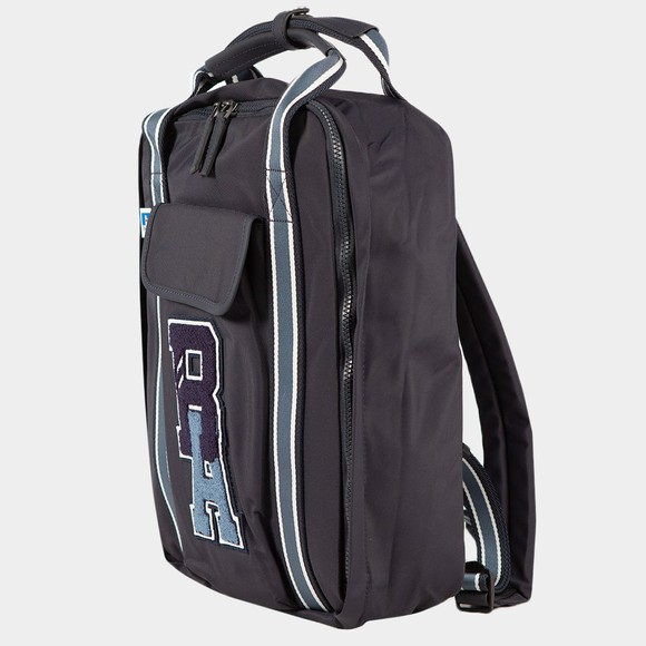 BOSS Mens Blue X Russell Athletic Squared Backpack