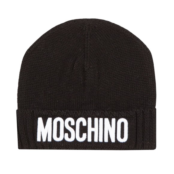 Moschino Boys Black Knitted Hat