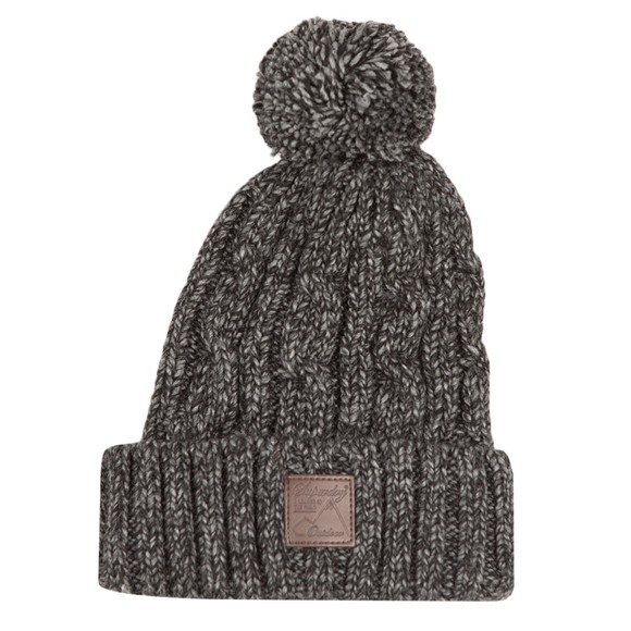 Superdry Mens Grey Trawler Cable Beanie