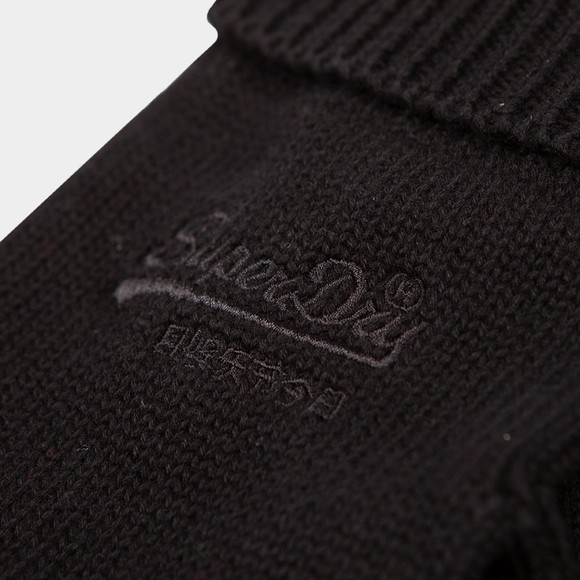 Superdry Mens Black Logo Classic Glove