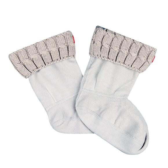 Hunter Womens Beige Original Short 6 Stitch Cable Boot Sock