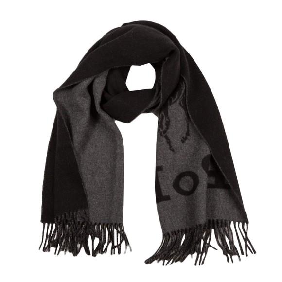 Polo Ralph Lauren Mens Black Large Logo Oblong Scarf