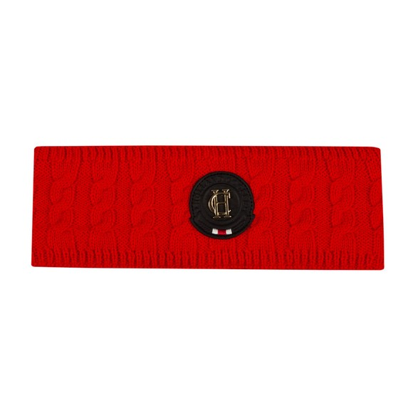 Holland Cooper Womens Red Luxe Cable Knit Headband