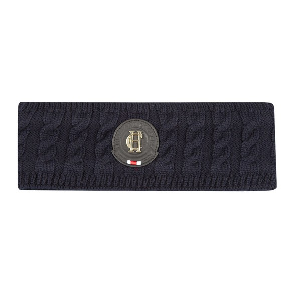 Holland Cooper Womens Blue Luxe Cable Knit Headband