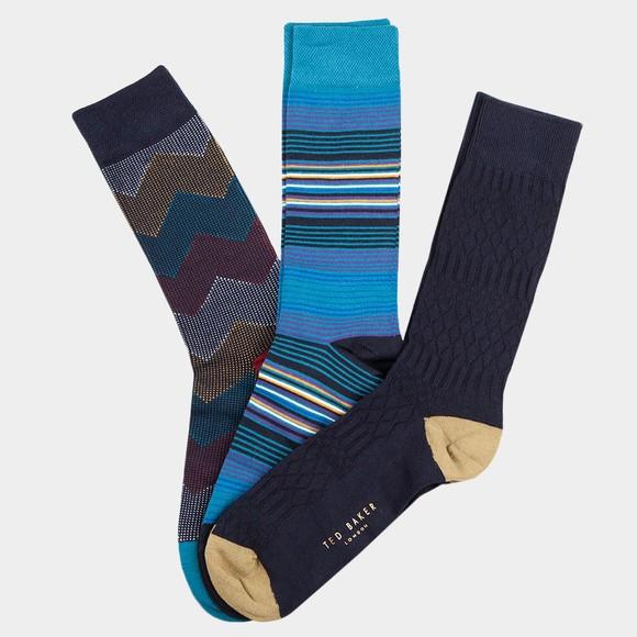 Ted Baker Mens Multicoloured Three Pack Socks