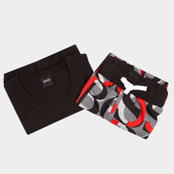 BOSS Bodywear Mens Black Relax Short Set