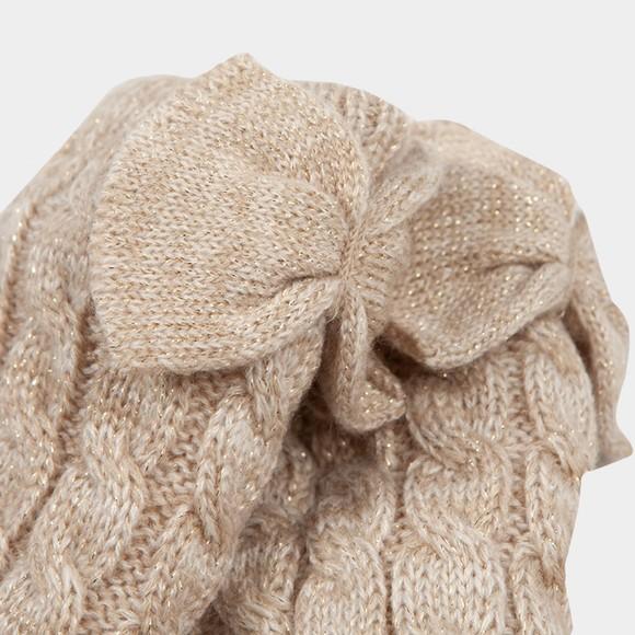 Ugg Womens Off-White Laila Bow Fleece Lined Sock