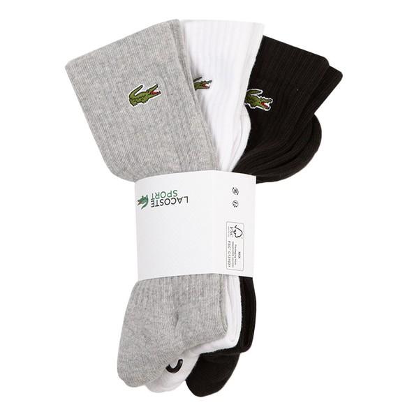 Lacoste Sport Mens Grey 3 Pack Socks