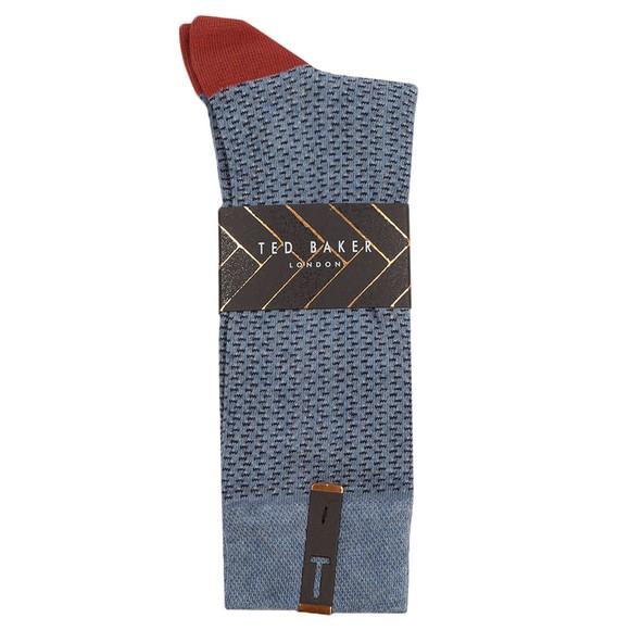 Ted Baker Mens Blue Semi Plain Sock