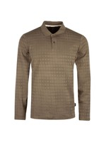 L/S Textured Polo Shirt