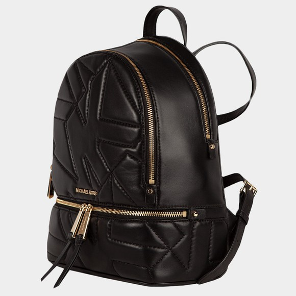 Michael Kors Womens Black Rhea Zip Backpack