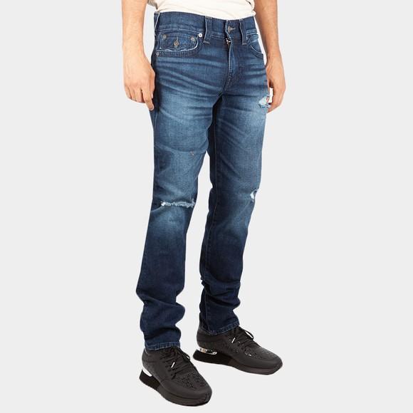 True Religion Mens Blue Rocco Flaps Big T Jean