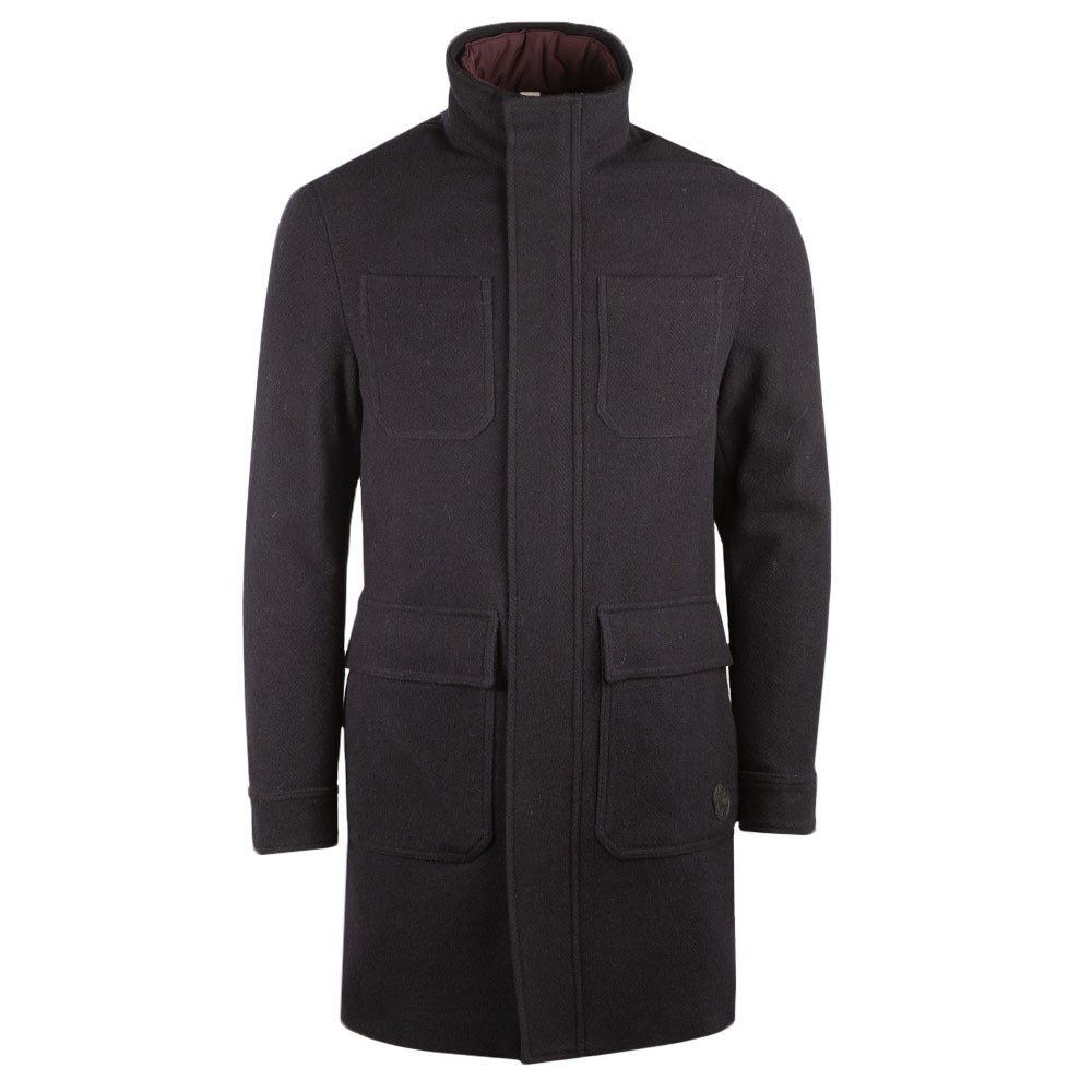 Funnel Neck  Coat With Pockets main image