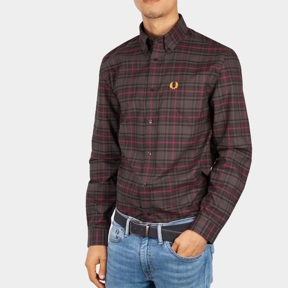 Fred Perry Mens Black Tonal Tartan Shirt