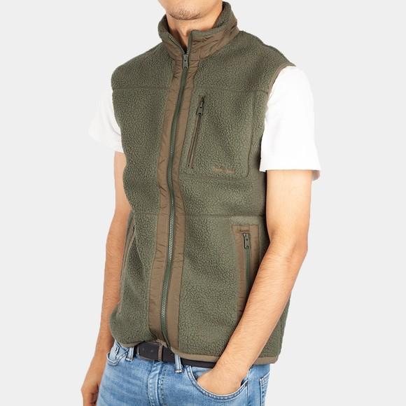Timberland Mens Green Fleece Gilet