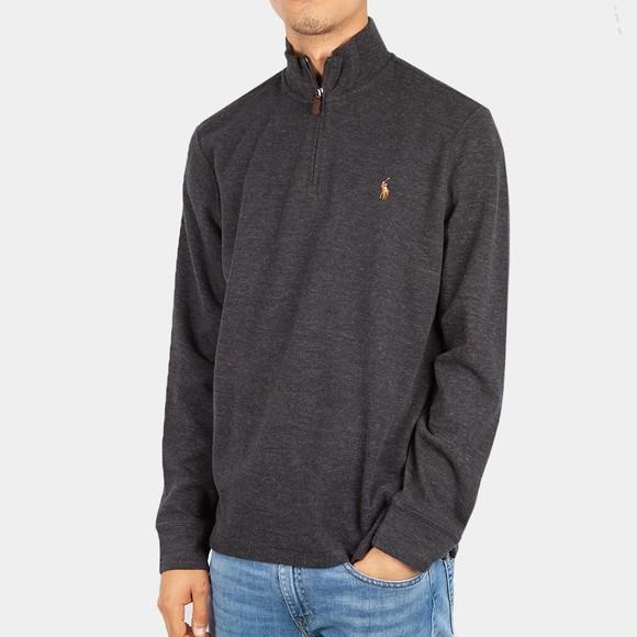 Polo Ralph Lauren Mens Black Half Zip Jumper