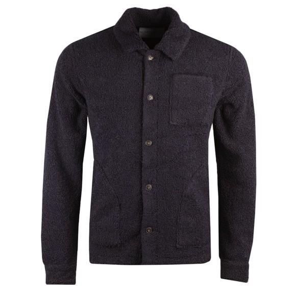 Les Deux Mens Blue Ian Teddy Hybrid Wool Jacket