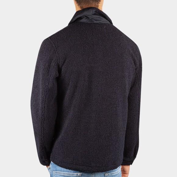 Les Deux Mens Blue Ian Teddy Hybrid Wool Jacket main image