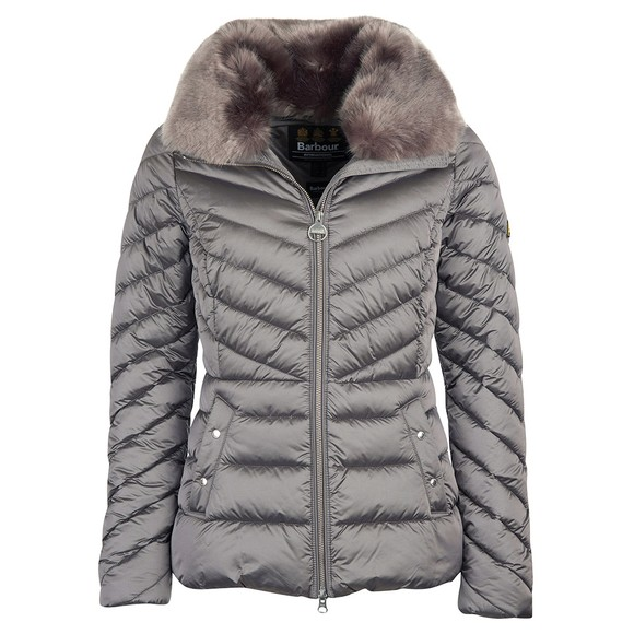 Barbour Lifestyle Womens Grey Simoncelli Quilted Jacket