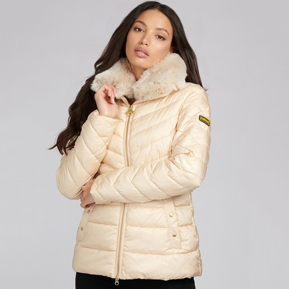 Barbour Lifestyle Womens Off-White Simoncelli Quilted Jacket