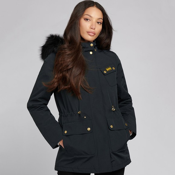 Barbour International Womens Black Wanneroo Jacket